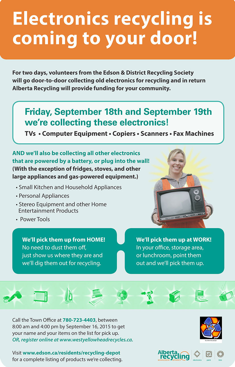 Electronics Pickup | West Yellowhead Recycles
